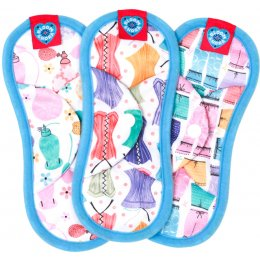 Bloom & Nora Reusable Sanitary Pads - Bloom Mini - Assorted Designs - Pack of 3