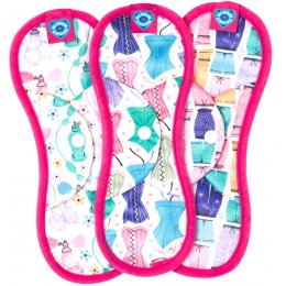 Bloom & Nora Reusable Sanitary Pads - Bloom Midi - Assorted Designs - Pack of 3