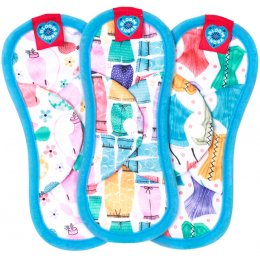Bloom & Nora Reusable Sanitary Pads - Nora Mini - Assorted Designs - Pack of 3