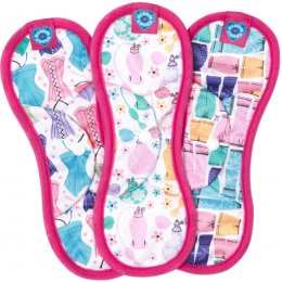 Bloom & Nora Reusable Sanitary Pads - Nora Midi - Assorted Designs - Pack of 3
