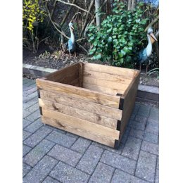 Large Square Wooden Planter