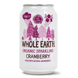 Whole Earth Sparkling Mountain Cranberry Juice - 330ml