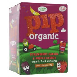 Pip Organic Strawberry & Banana Smoothie - 4 x 180ml