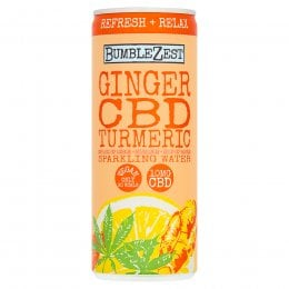 Bumblezest Refresh & Relax Ginger, Turmeric & CBD Sparkling Water - 250ml
