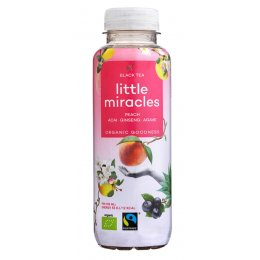Little Miracles Organic Black Tea & Peach Energy Drink - 330ml