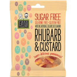 Free From Fellows Vegan Sugar Free Rhubarb and Custard Sweets - 70g