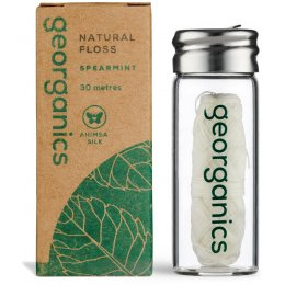 Georganics Natural Silk Dental Floss - Spearmint - 30ml