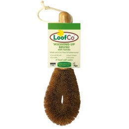 LoofCo Washing-Up Brush with Rubberwood handle