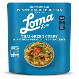 Loma Linda Thai Green Curry Ready Meal - 284g