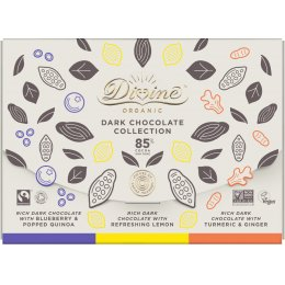 Divine Organic 85 percent  Dark Chocolate Bar Set - 240g