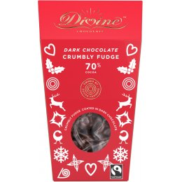 Divine Dark Chocolate Crumbly Fudge - 130g