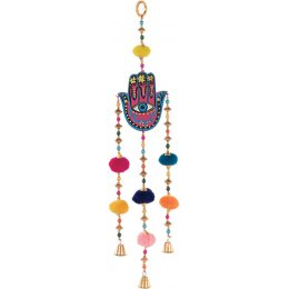 Hand Painted Hamsa Hand Hanging Decoration
