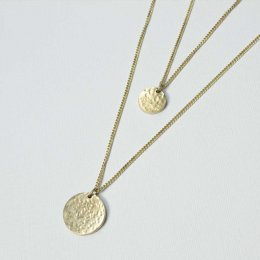 Made Hammered Double Moon Drop Necklace