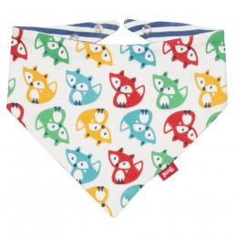 Kite Rainbow Fox Reversible Bib