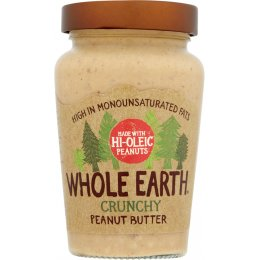Whole Earth Hi Oleic Crunchy Peanut Butter - 340g