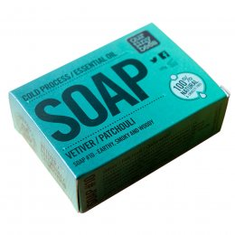 Our Tiny Bees Cold Pressed Soap - Vetiver & Patchouli - 140g