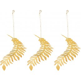 Tabwa Palm Leaf Brass Decorations - Set of 3