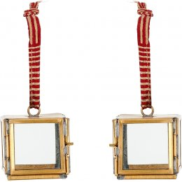 Tiny Kiko Anitique Brass Box Decorations - Set of 2