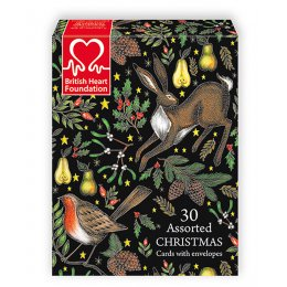 BHF Charity Christmas Card Assortment - Box of 30