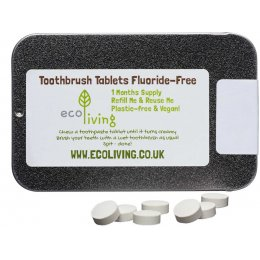 ecoLiving Fluoride Free Toothpaste Tablets Tin - 62 Tabs