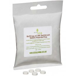 ecoLiving Fluoride Free Toothpaste Tablets Bag - 125 Tabs
