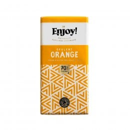 Enjoy Raw Chocolate Orange Chocolate Bar - 35g