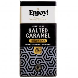 Enjoy Raw Chocolate Salted Caramel Filled Chocolate Bar - 70g