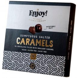 Enjoy Vegan Salted Caramel Chocolates - Box of 16