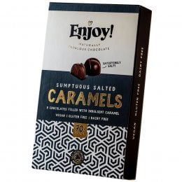 Enjoy Vegan Salted Caramel Chocolates - Box of 8