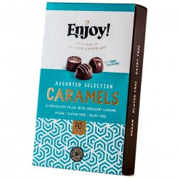 Enjoy Assorted Vegan Caramel Chocolates - Box of 8