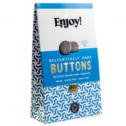 Enjoy Raw Chocolate 70 percent  Dark Chocolate Buttons - 96g