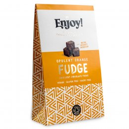 Enjoy Raw Chocolate Orange Chocolate Fudge - 100g