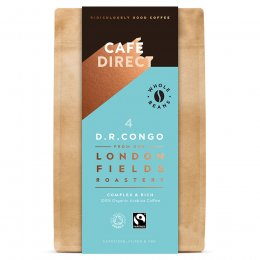 Cafedirect London Fields Congo Organic Coffee Beans - 200g