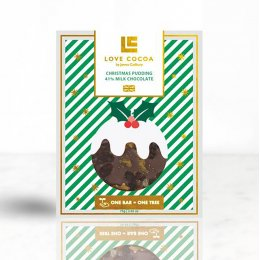 Love Cocoa Limited Edition Christmas Pudding Milk Chocolate Bar - 75g