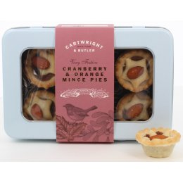 Cartwright & Butler Cranberry & Orange Mince Pies - Pack of 6