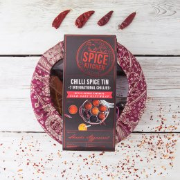 Chilli Spice Gift Tin with Sari Wrap
