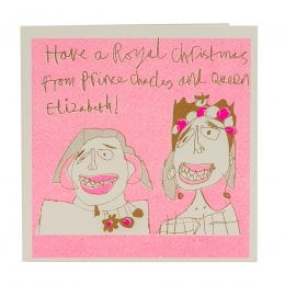 ARTHOUSE Unlimited Prince Charles & Queen Elizabeth Christmas Charity Card
