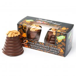 Hadleigh Maid Dark Chocolate Orange Truffle Whirls - 100g
