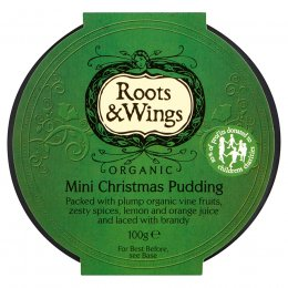 Roots & Wings Organic Mini Christmas Pudding - 100g
