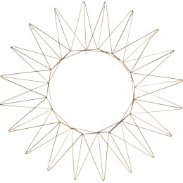 Talina Antique Brass Wreath - Large
