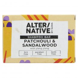 Alternative by Suma Glycerine Shampoo Bar - Patchouli & Sandalwood - 90g