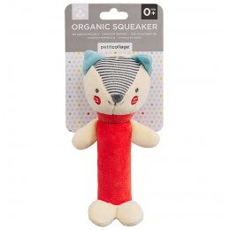Petit Collage Organic Red Fox Squeaker