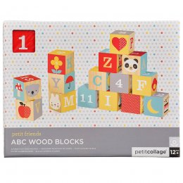 Petit Collage ABC Wood Blocks