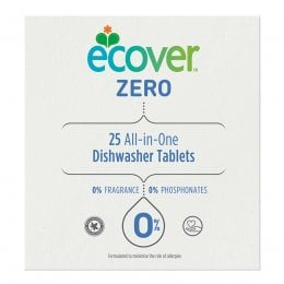 Ecover Zero All-in-One Dishwasher Tablets - 25 Tabs