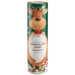 Farmhouse Biscuits Giant Reindeer Gift Tube - Chocolate Chip 300g