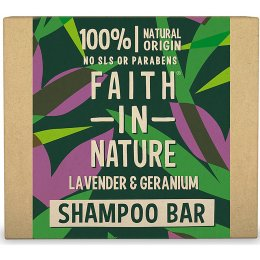 Faith in Nature Shampoo Bar - Lavender & Geranium - 85g