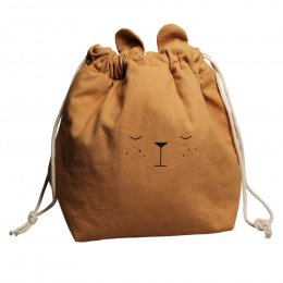 Fabalab Ochre Bear Storage Bag - Small