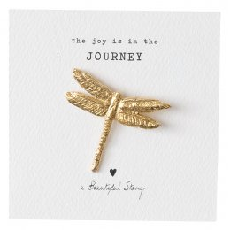 A Beautiful Story Dragonfly Gold Brooch