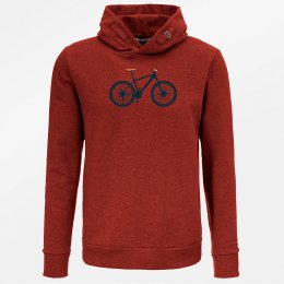 Green Bomb Mountain Bike Hoodie - Heather Red