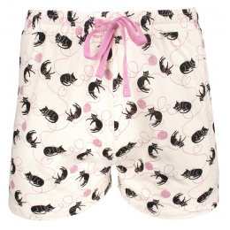 People Tree Cat Print Pyjama Shorts